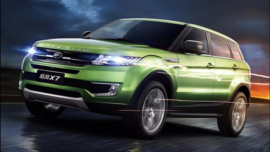 Land Rover denuncia i cinesi per la copia dell'Evoque