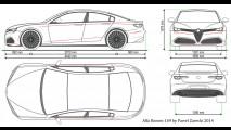 Alfa Romeo Giulia - Primo rendering