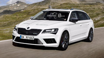 Skoda Superb RS render