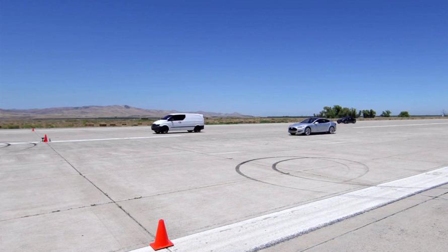 Battery-powered Mercedes van is faster than a Ferrari