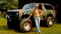 Ted Nugent with vintage Ford Bronco