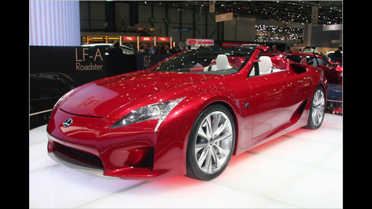Lexus LF-A Roadster: Der 500 PS starke Sportwagen mit V8-Frontmotor erreicht eine Spitze von über 300 km/h