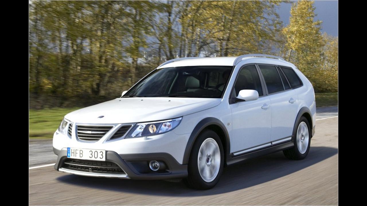 Gelände-Kombi: Auf dem Genfer Auto-Salon 2009 stellte Saab den neuen 9-3X vor