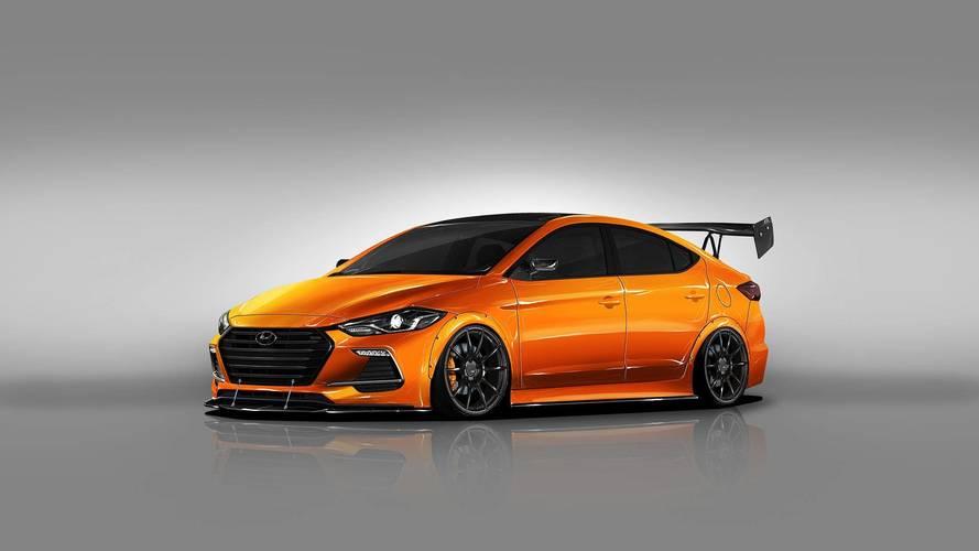 Tuned Hyundai Elantra Sport Look Peachy Ahead Of Journey To SEMA