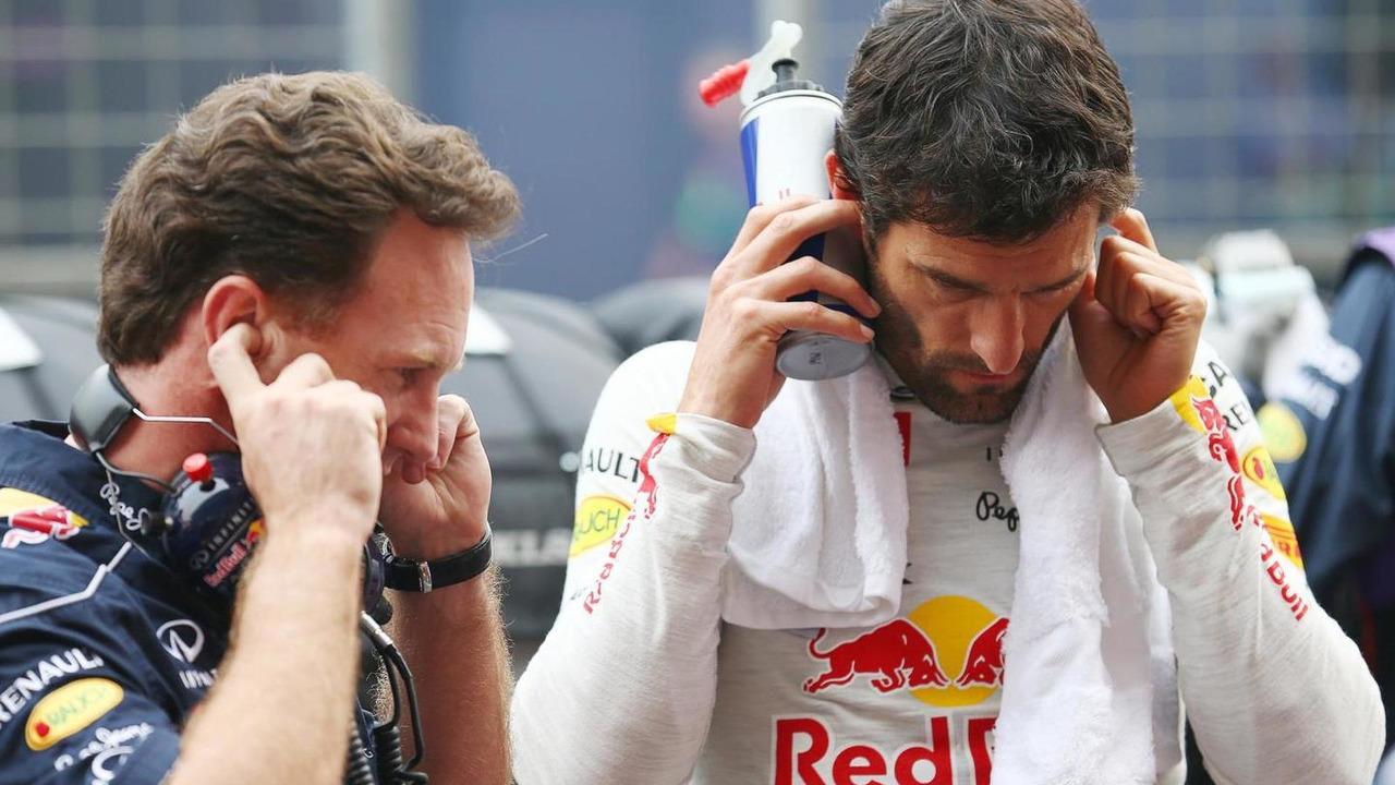 Christian Horner with Mark Webber 27.10.2013 Indian Grand Prix