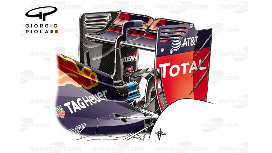 Red Bull RB12 rear wing, Hungarian GP