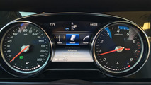 2016 Mercedes E-Class base model shows analog dials, smaller screen