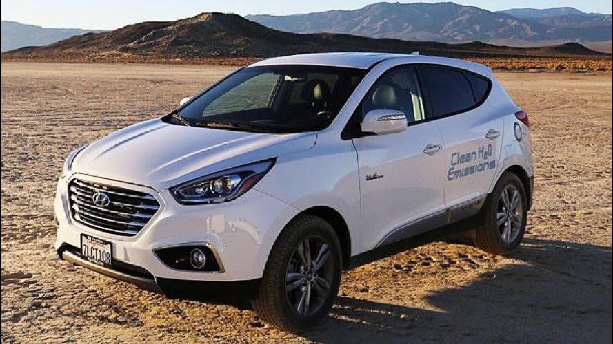 Hyundai ix35, record di velocità per quella a idrogeno