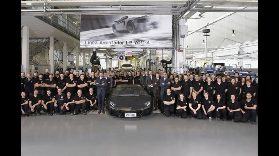 Lamborghini comemora 2 mil unidades produzidas do Aventador