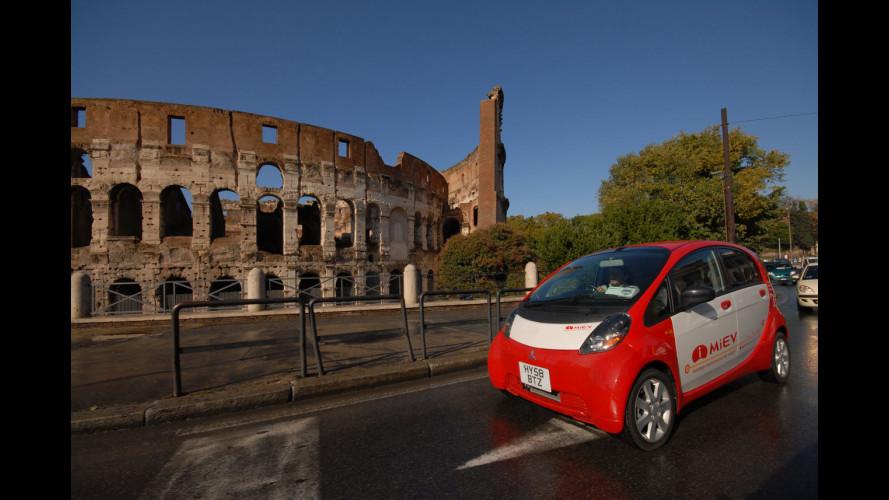 Mitsubishi i-MiEV: test drive in Lombardia