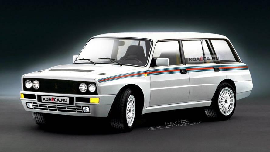 Akár a Williams F1 versenyzőinek céges autója is lehetne ez a 2104-es Lada