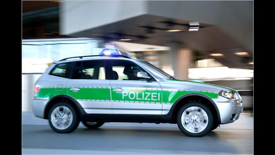 X3 für die Polizei: BMW stellt neuen Behörden-Wagen vor
