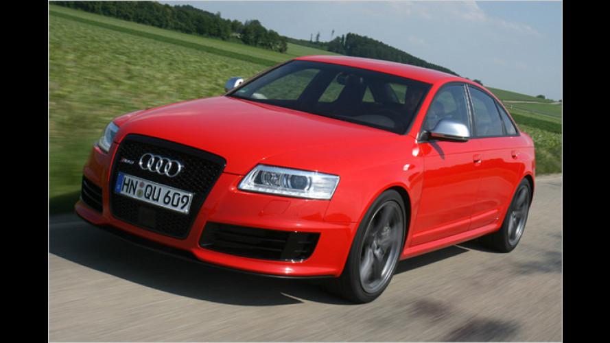 Kontrolliert die dunkle Seite: Der Audi RS6 im Test