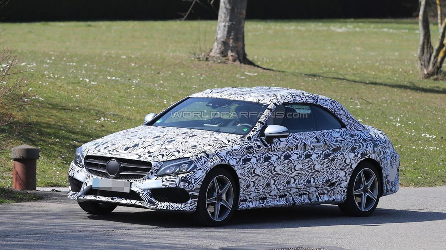 2016 Mercedes-Benz C-Class Cabriolet spied in AMG Line specification