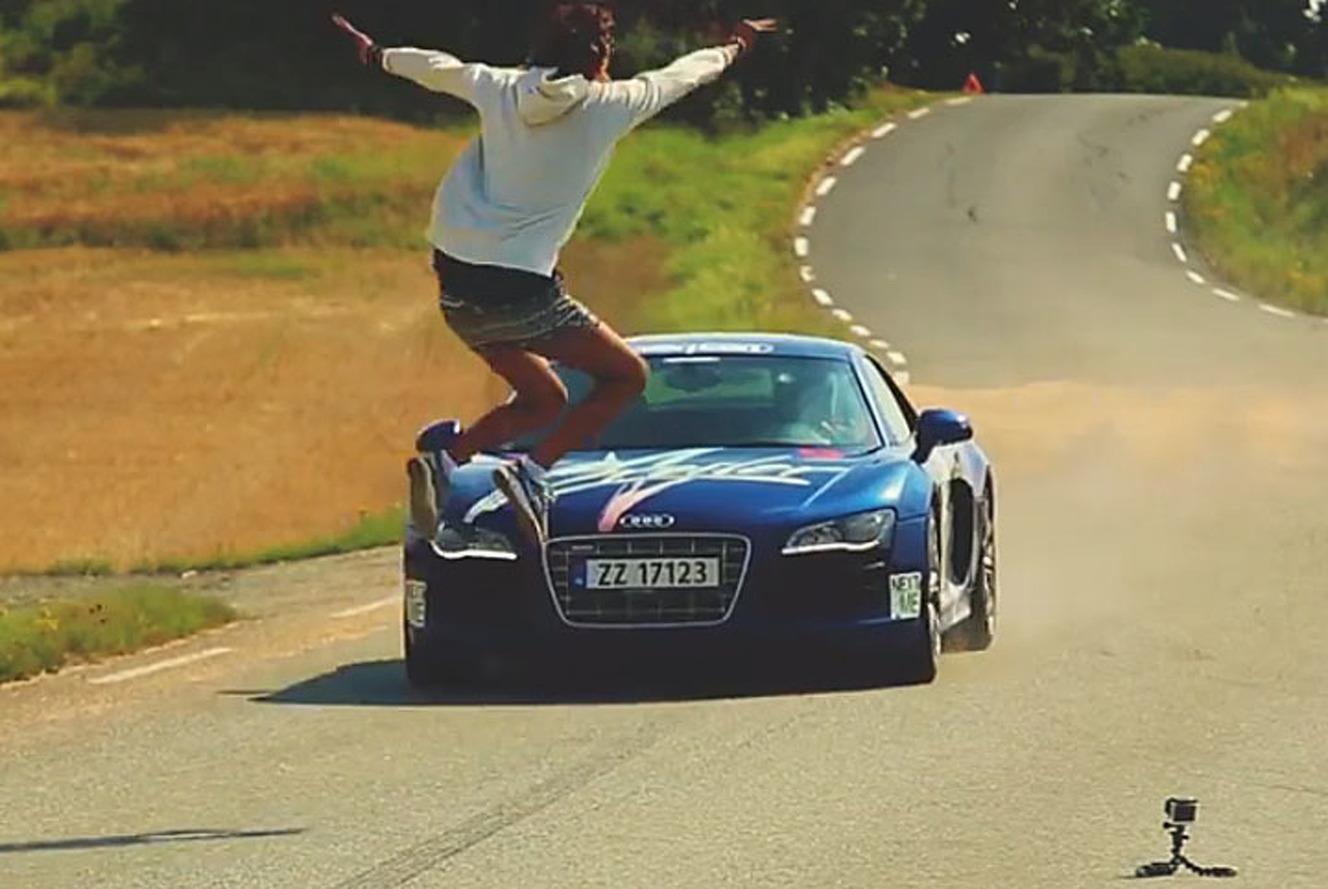 Crazy Norwegian Jumps Over an Audi R8 Going 95 MPH [Video]