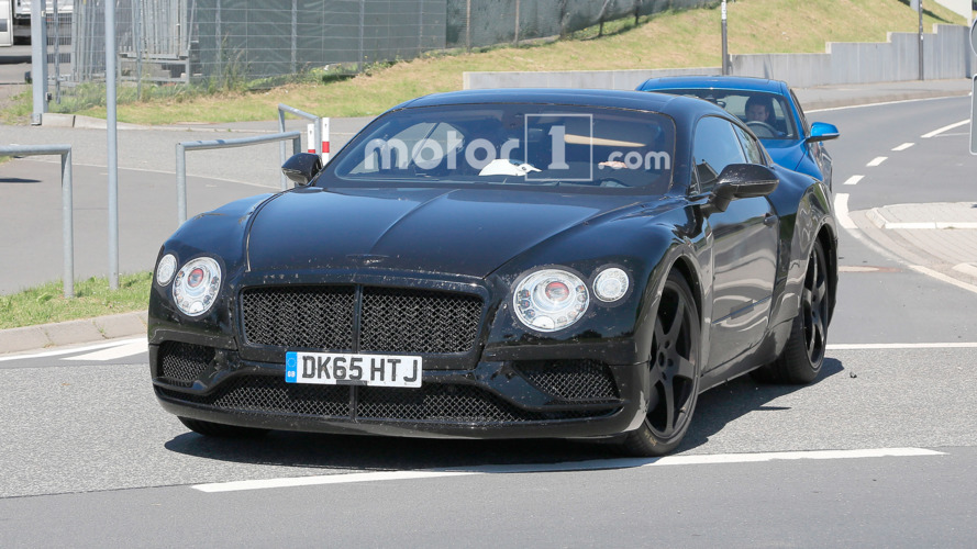 Bentley Continental GT spied trying to hide its sleek body