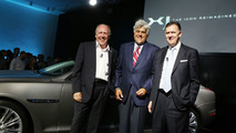 Ian Callum, Jay Leno at 2010 Jaguar XJ world premiere