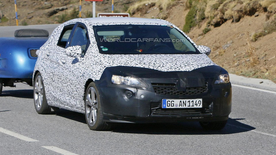 Heavily camouflaged 2016 Opel Astra spied up close