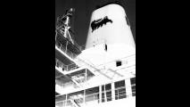 1975, nave cisterna Agip sicilia all'ormeggio, Melilli, Italia