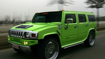 Maximum green: Hummer H2 by Geigercars