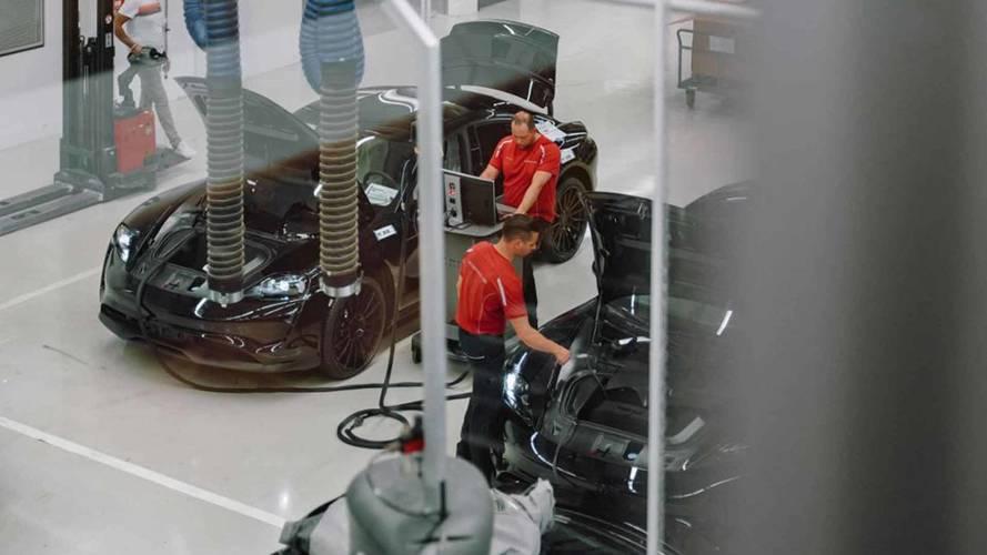 Porsche Mission E prototípus-gyártás