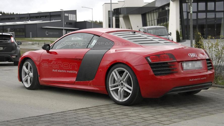 Audi R8 e-tron spied in the wild [video]