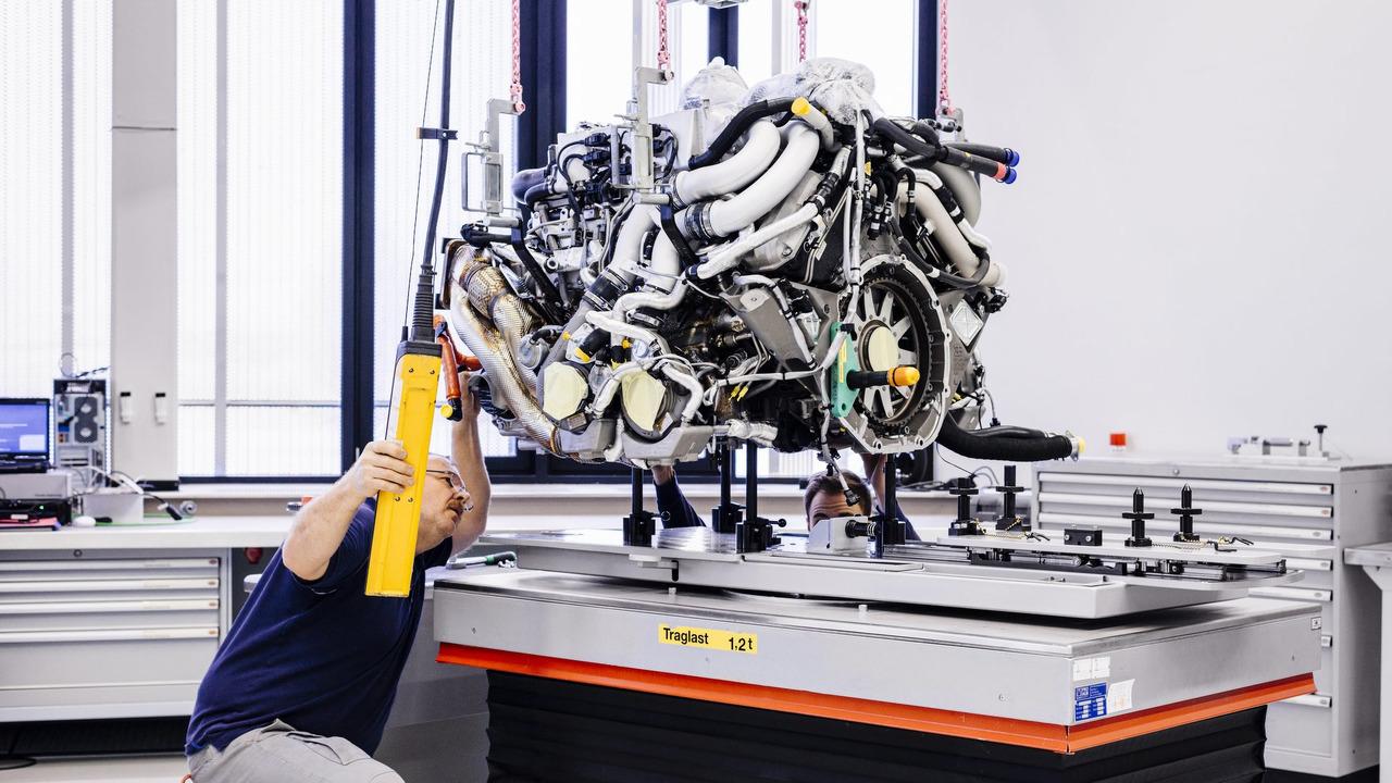 Bugatti Chiron na fábrica