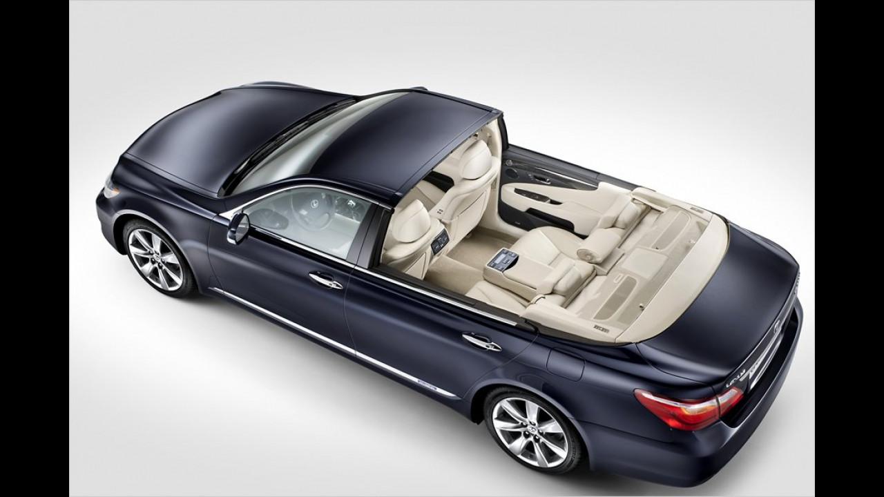 Eigens für die Hochzeit von Fürst Albert von Monaco und Charlene Wittstock im Jahr 2011 wurde ein Lexus LS600h Landaulet angefertigt.