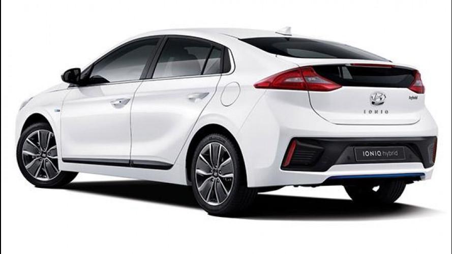 Hyundai Ioniq, prime foto dell'ibrida
