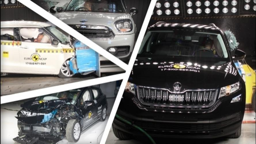 Euro NCAP, i risultati di Countryman, Kodiaq, Micra e Swift