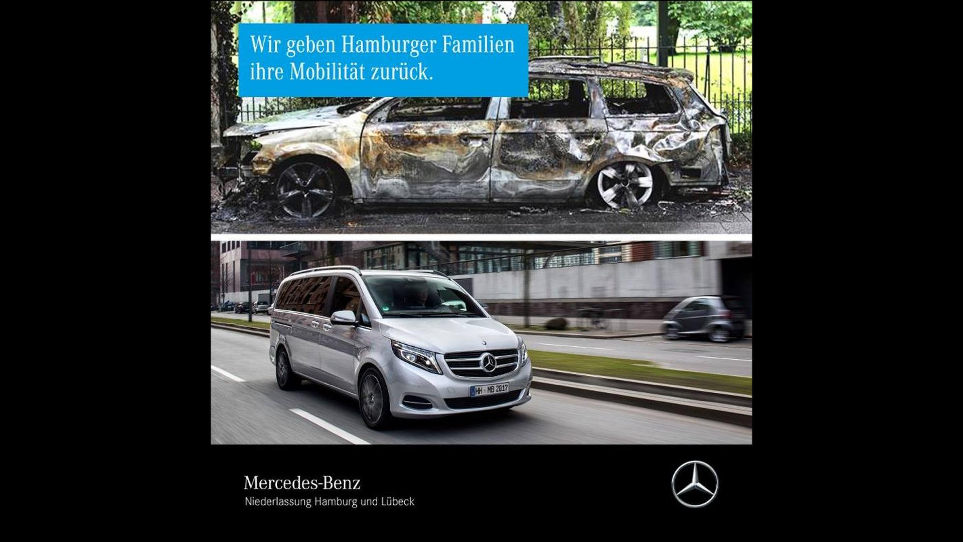 Mercedes offers vans to affected families of g20 summit for Mercedes benz offers usa