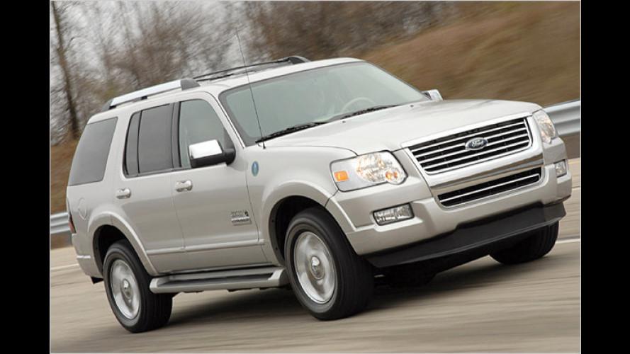 Ford gibt Stoff, Wasserstoff: Testfahrt im Explorer Hydrogen