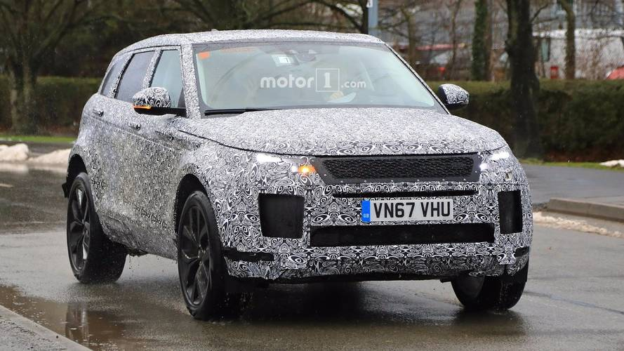 Heavily disguised 2019 Range Rover Evoque spotted