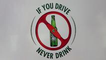 Heineken F1 sponsorship announcement - anti-drink driving banner
