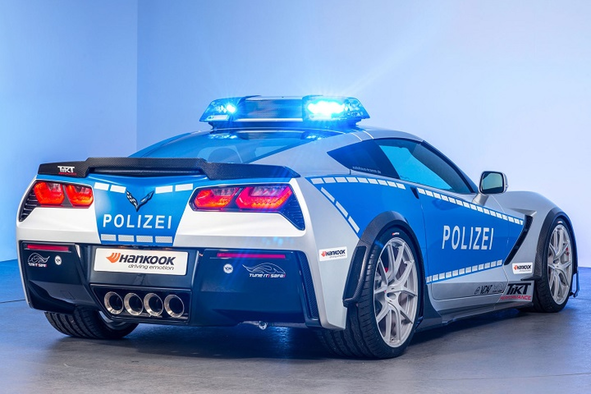 Good Luck Outrunning This Corvette Police Car