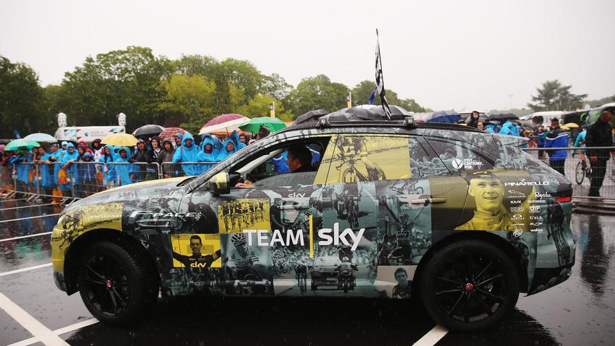 Jaguar celebrates Team Sky's Tour de France win with new F-Pace livery