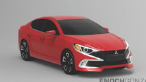 Next-gen in-house made Mitsubishi Lancer rendered