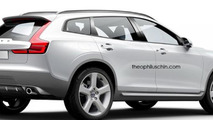 Volvo XC90 rendered as a stylish BMW X6 competitor