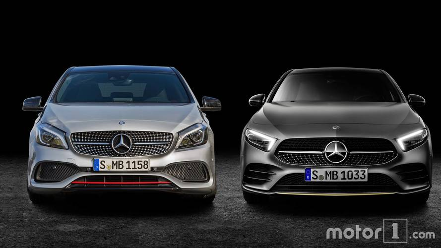 2019 mercedes benz a class see the changes side by side. Black Bedroom Furniture Sets. Home Design Ideas