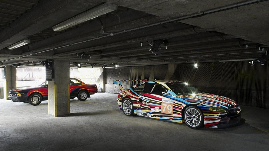 BMW Art Car collection on display in UK car park