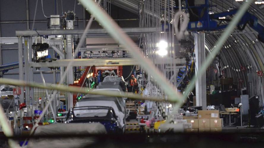 We Take You Inside The New Tesla Tent Model 3 Production Site