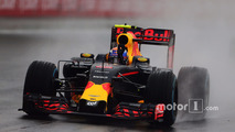 Max Verstappen, Red Bull Racing RB12 celebrates his third position at the end of the race