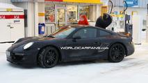 Porsche 998 spy photos at petrol station in Sweden