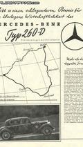 Advertising: Mercedes-Benz 260 D from 1936