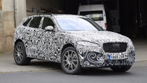 Jaguar F-Pace SVR spy photos