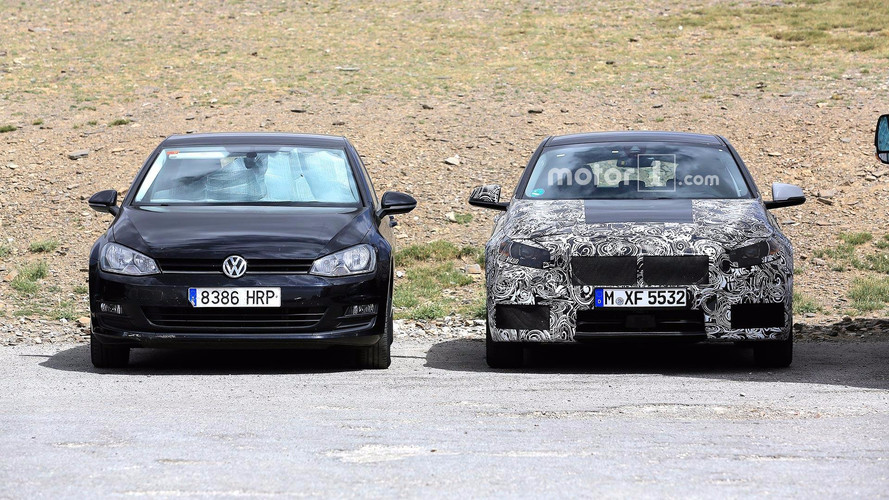 BMW 1 Series Spied Testing With Volkswagen Golf