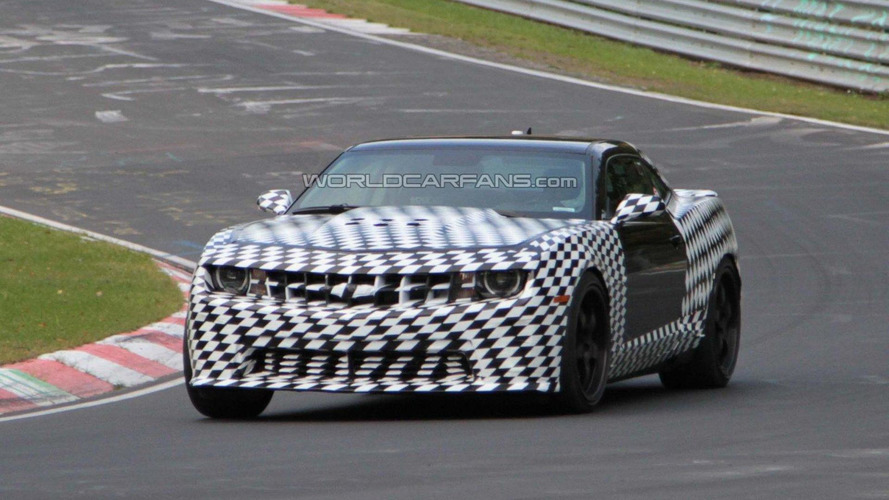 2012 Chevy Camaro Z28 spied testing at Nürburgring