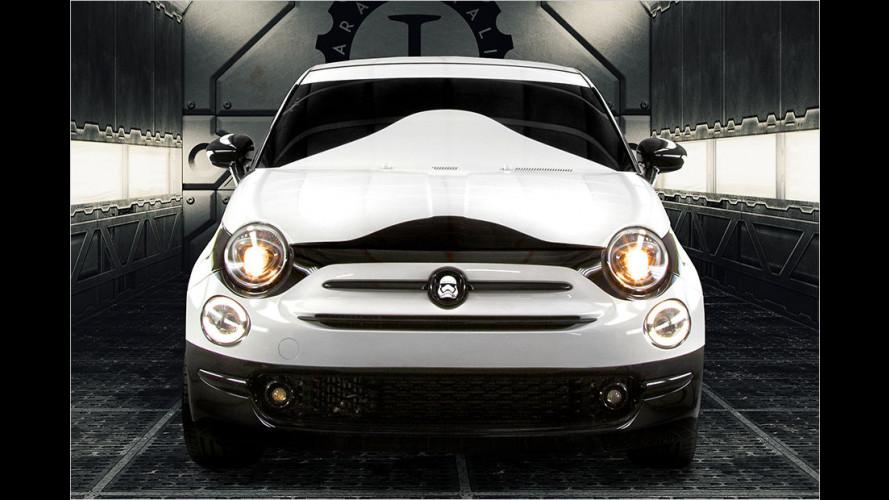 Droiden-Invasion mit 14 Fiat 500