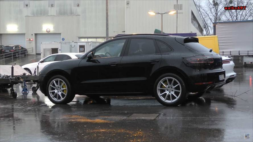 Refreshed Porsche Macan Spied With Little Camo On A Rainy Day