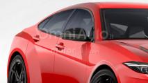 Lamborghini super berlina, il rendering